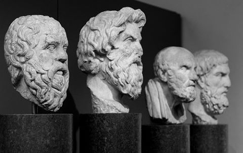 Busts of Philosophers b&w