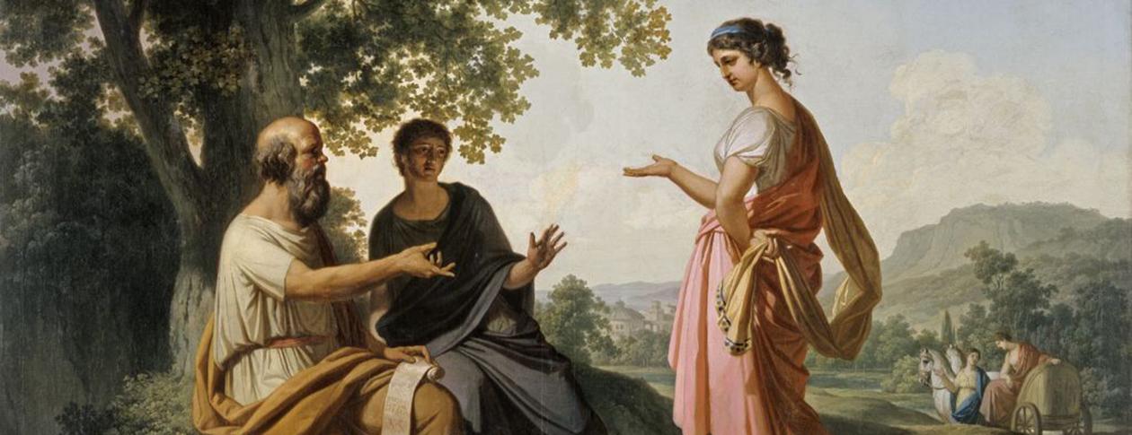 1260-Franc_Kavčič_-_Sokrat_z_učencem_in_Diotimo